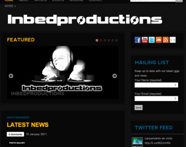 Website creation – Inbedproductions