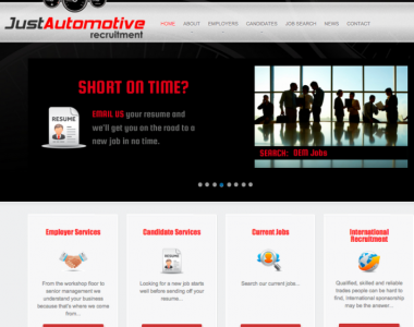 Website creation – Just Automotive Recruitment