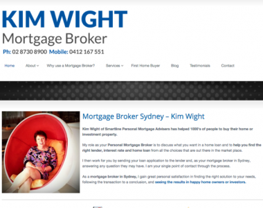 Website creation – Kim Wight Mortgage Broker